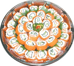Platter, Sushi Inside Out California w/Masago (32pc)